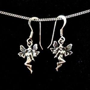 Sterling fairy/art nouveau female figure earrings